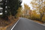 Opravená silnice Bedřichov