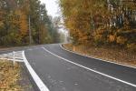 Opravená silnice Loktuše