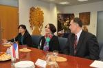 Návštěva velvyslankyně Jihoafrické republiky Franki Verwey v sídle krajského úřadu Libereckého kraje