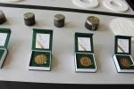 Představení medaile vyražené ke 150. výročí města Jablonec nad Nisou nesoucí nápis Gratias Tibi Ago