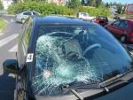 Střet osobního auta s chodcem v Jablonci nad Nisou v ulici Rýnovická