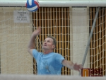 V Jablonci se konal volejbalový turnaj měst. Ředitel turnaje Libor Jakoubek v akci.