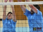 V Jablonci se konal volejbalový turnaj měst. Jitka Prchvalová a Daniel David.