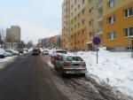 Parkování v ulici Vysoká v Jablonci