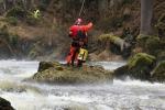 Taktické cvičení složek IZS na záchranu vodáků z Kamenice pod Návarovem