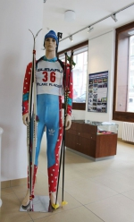 Výstava nazvaná 30 let úspěchů jabloneckého biatlonu v přízemí jablonecké radnice