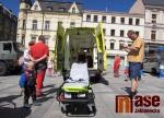 Soutěž mladých zdravotníků na Mírovém náměstí v Jablonci