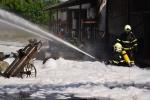 Požár v areálu Severochema Liberec