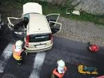Střet osobního automobilu s nákladním v jablonecké ulici Skřivánčí