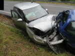 Nehoda dvou vozidel v Plavech