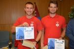 Nejlepší záchranáři Michael Laufke a Jan Bartoš