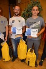 Vítězové z řad hasičů Michal Stejskal a Pavel Dvořák