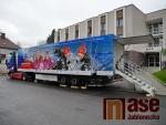 Představení speciálního kamionu pro českou biatlonovou reprezentaci