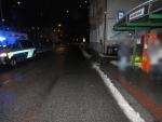 Místo nehody v jablonecké ulici Kamenná