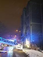 Požár třípatrového domu v Liberci