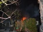 Požár zahradní chatky v zahrádkářské kolonii v České Lípě