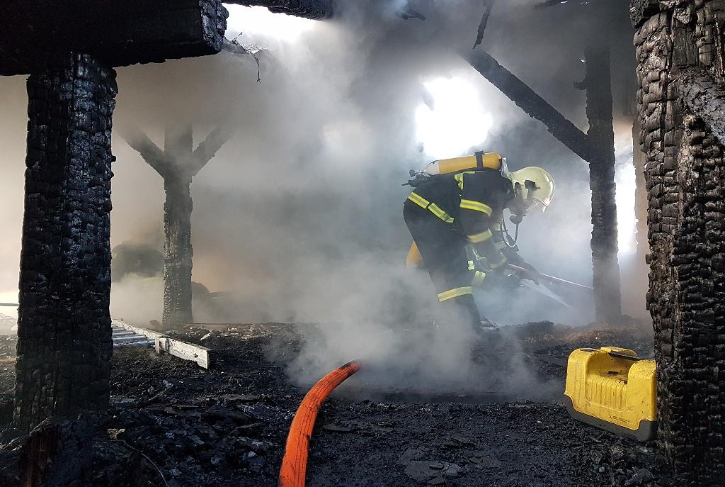 Požár bytového domu v ulici Studničná v Liberci<br />Autor: HZS Libereckého kraje, Tomáš Polák