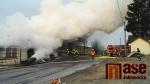 Požár seníku v Bzí u Železného Brodu