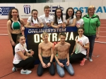 Družstvo Liazu Jablonec na halovém šampionátu žactva