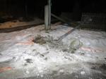 Přeražená lampa v Lučanech nad Nisou