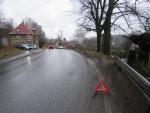Nehoda v Proseči nad Nisou, po které zůstalo vozidlo na svodidlech