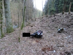 Nehoda motorkáře na silnici mezi Železným Brodem a Loužnicí