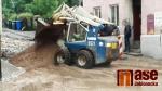 Ulice Krkonošská a Husitská v Liberci po přívalovém dešti