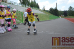 Na Městském stadionu v Tanvaldu závodily děti na inline bruslích