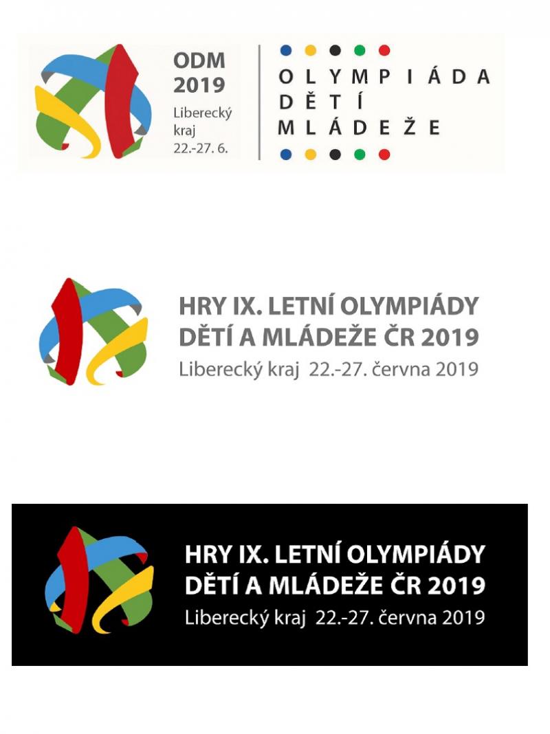 Vítězné logo Her olympiády dětí a mládeže v Libereckém kraji 2019<br />Autor: Archiv KÚ Libereckého kraje. Vizualizace kultivace okolí sídla krajského úřadu