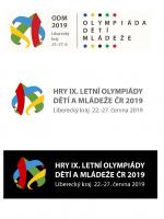 Vítězné logo Her olympiády dětí a mládeže v Libereckém kraji 2019
