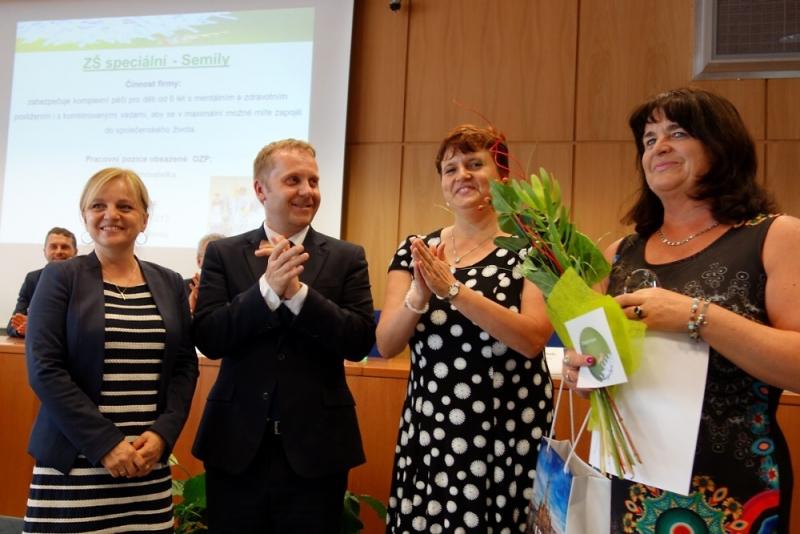 Slavnostní vyhlášení soutěže Stejná šance - Zaměstnavatel roku<br />Autor: Archiv KÚ Libereckého kraje