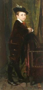 Dětský portrét Hanse Liebiega (syna Heinricha Liebiega)