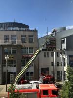 Požár v budově v ulici 1. máje v centru Liberce