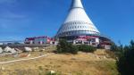 Požár porostu u vysílače Ještěd v Liberci