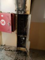 Požár panelového domu panelového domu v Tanvaldu v ulici Horská