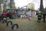 Zásahy hasičů po silném větru v Libereckém kraji