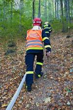 Rozsáhlý požár lesa u Raspenavy