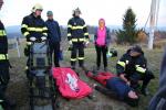 Hasiči Libereckého kraje a z polské Jelení Hory při cvičení první pomoci