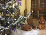 Stromek a betlém ve vestibulu jabonecké radnice