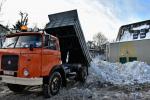 Odvoz sněhu na deponii