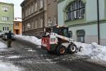 Úklid sněhu ulice E. Floriánové