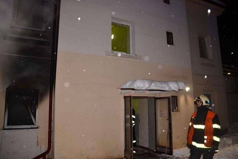 Dům v liberecké ulici Svobody, ve kterém došlo k požáru