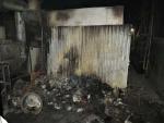 Požár ve spalovně v Rýnovicích, v ulici Belgická