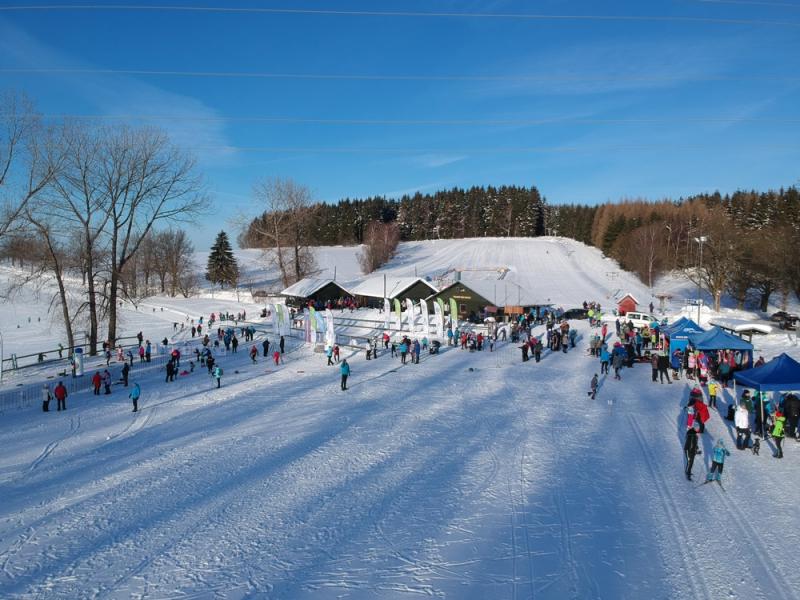 Třetí kolo krajského poháru žactva vě běhu na lyžích ve Vysokém nad Jizerou<br />Autor: Čestmír Skrbek