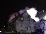 Požár rodinného domku v Janově nad Nisou