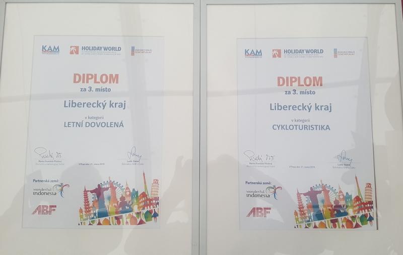 Ocenění pro Liberecký kraj na mezinárodním veletrhu cestovního ruchu Holiday World 2019