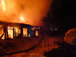 Požár rodinného domu v Desné