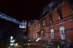 Hořící budova v místní části Liberec - Rochlice