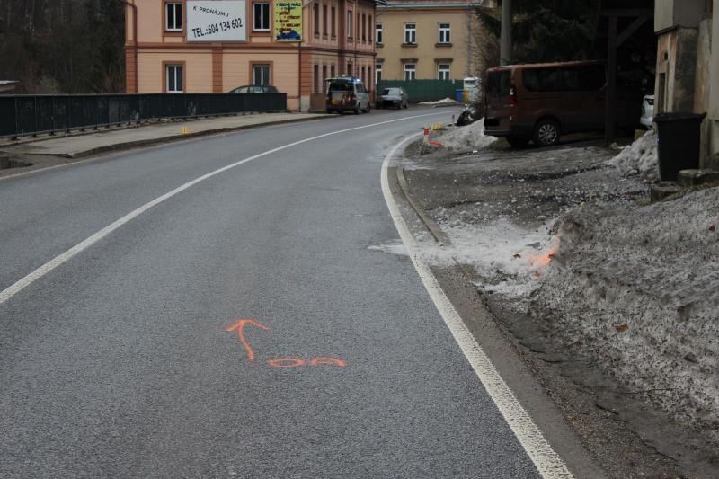 Nehoda ve Smržovce v ulici Hlavní