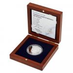 Stříbrná pamětní medaile s podobiznou režiséra Jiřího Menzela